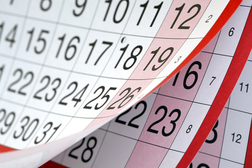 Notable bookkeeping dates